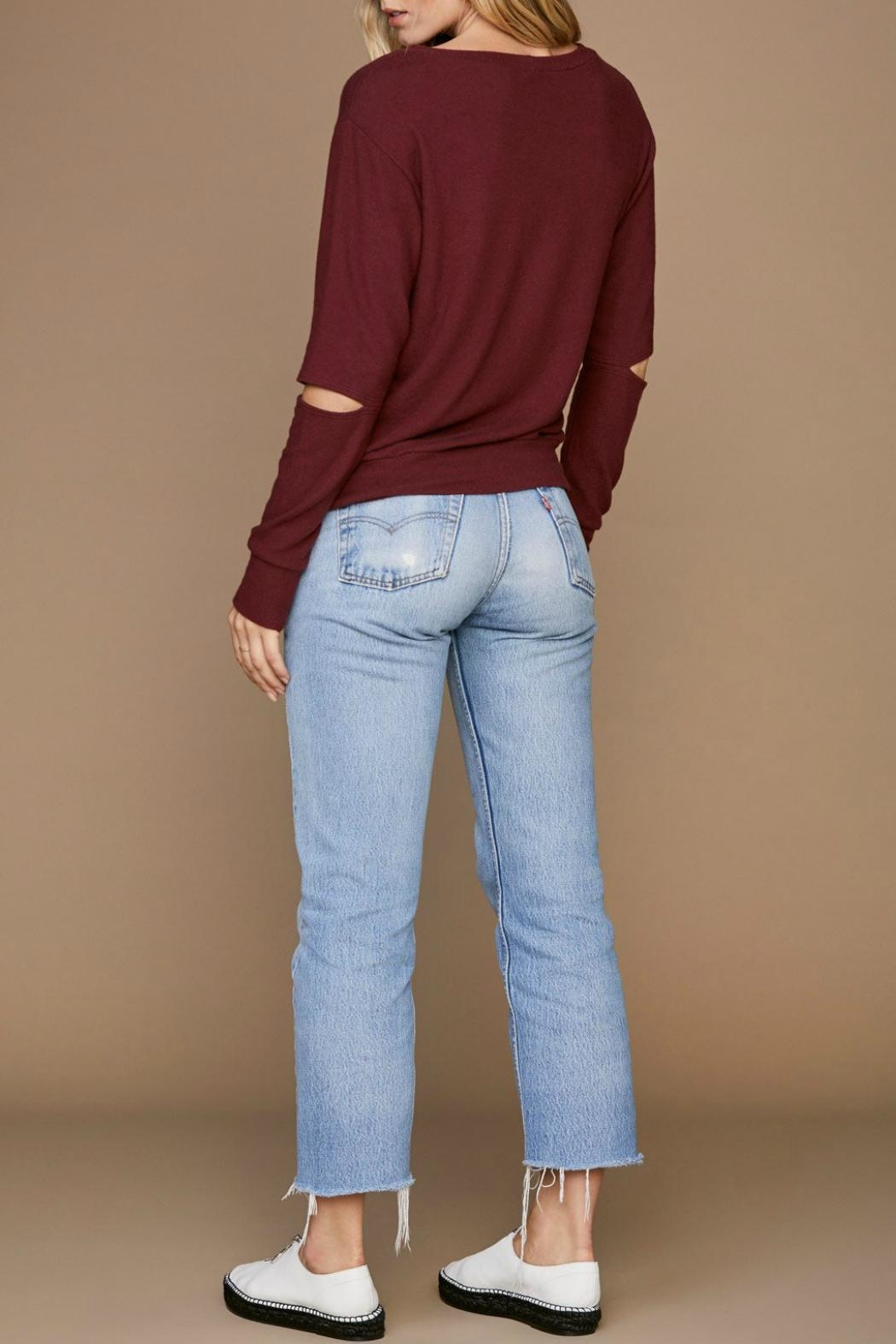 LNA Brushed Odeon Sweater - Back Cropped Image