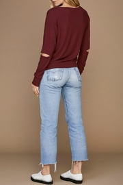 LNA Brushed Odeon Sweater - Back cropped