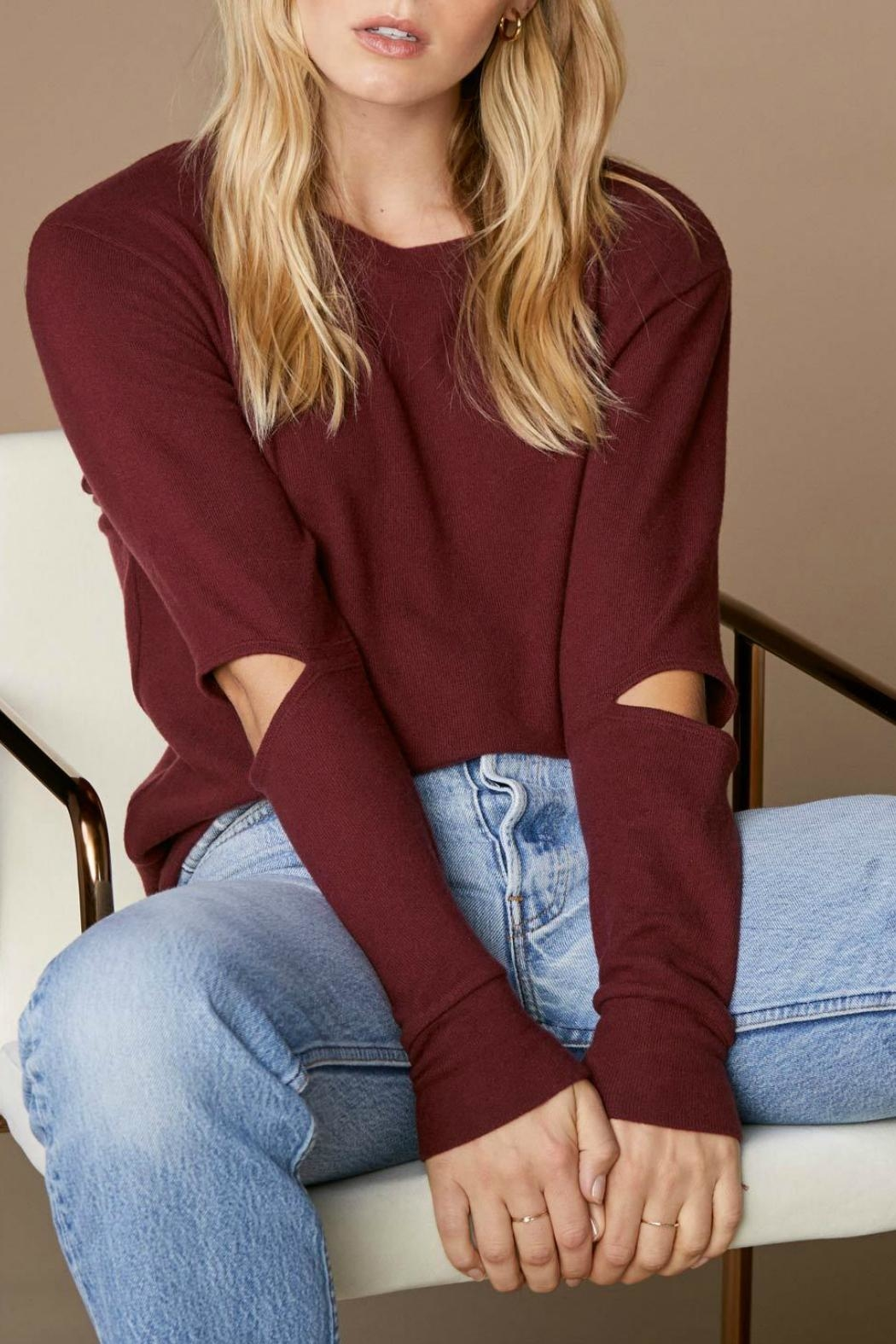 LNA Brushed Odeon Sweater - Front Cropped Image