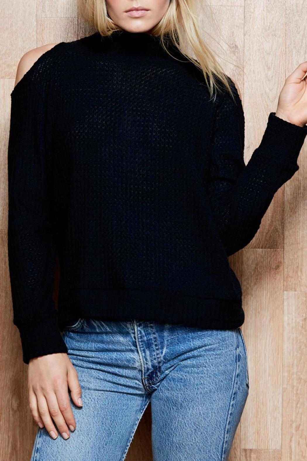 5b0c21c55e533e LNA Cold Shoulder Sweater from Back Bay by Max   Riley — Shoptiques
