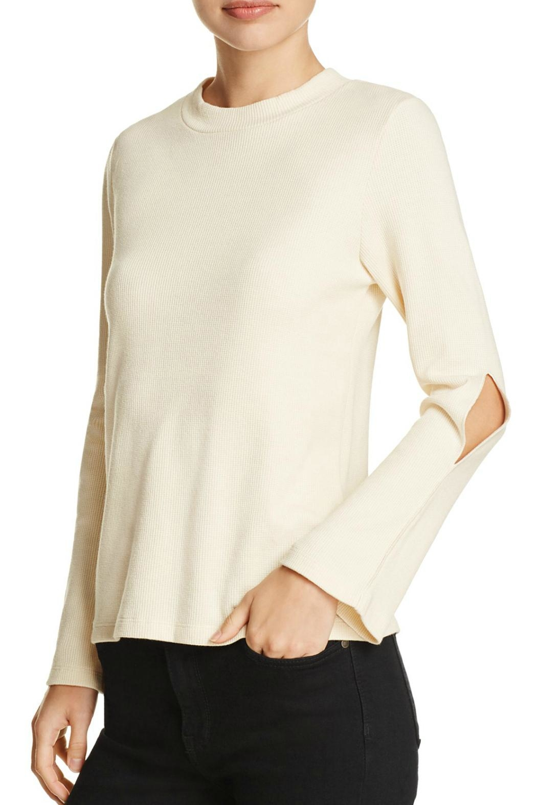 LNA Cutout Bell Sleeve Thermal - Front Cropped Image