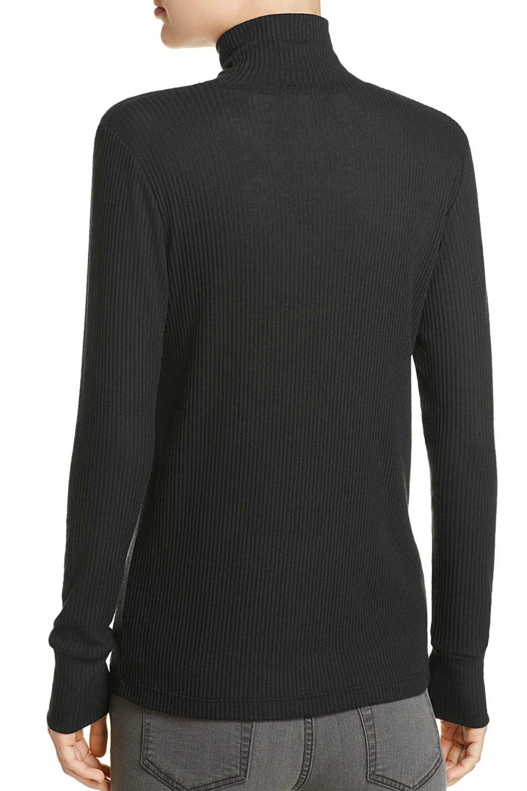 LNA Lace Up Turtleneck Top - Front Full Image