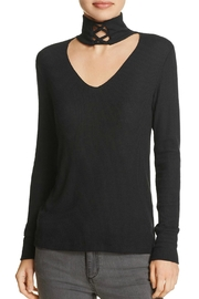 LNA Lace Up Turtleneck Top - Front cropped