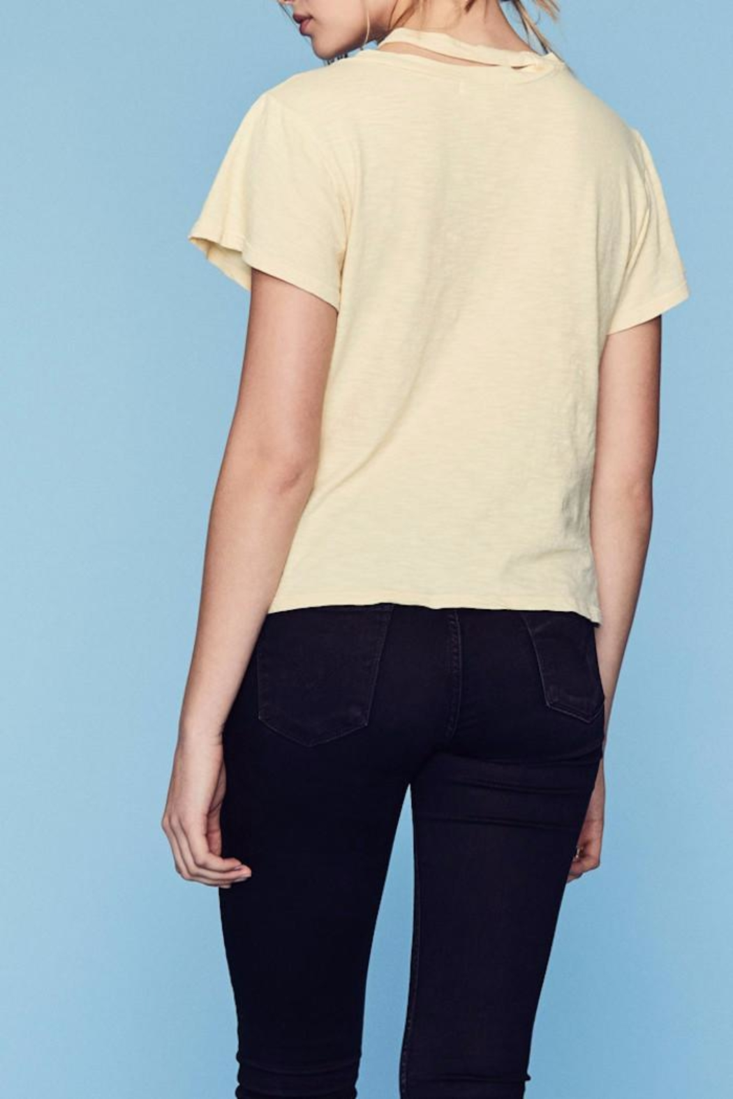 LNA Double Neck Band Tee - Front Full Image