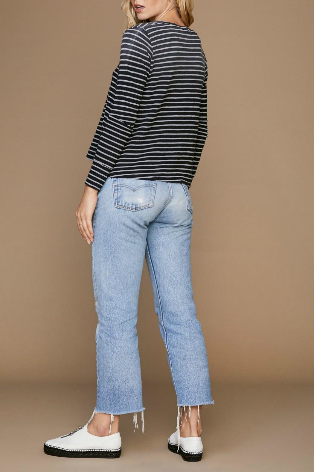 LNA Faded Stripe Sweater - Side Cropped Image