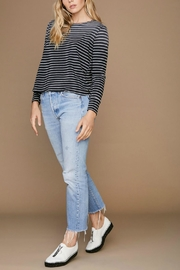 LNA Faded Stripe Sweater - Front cropped