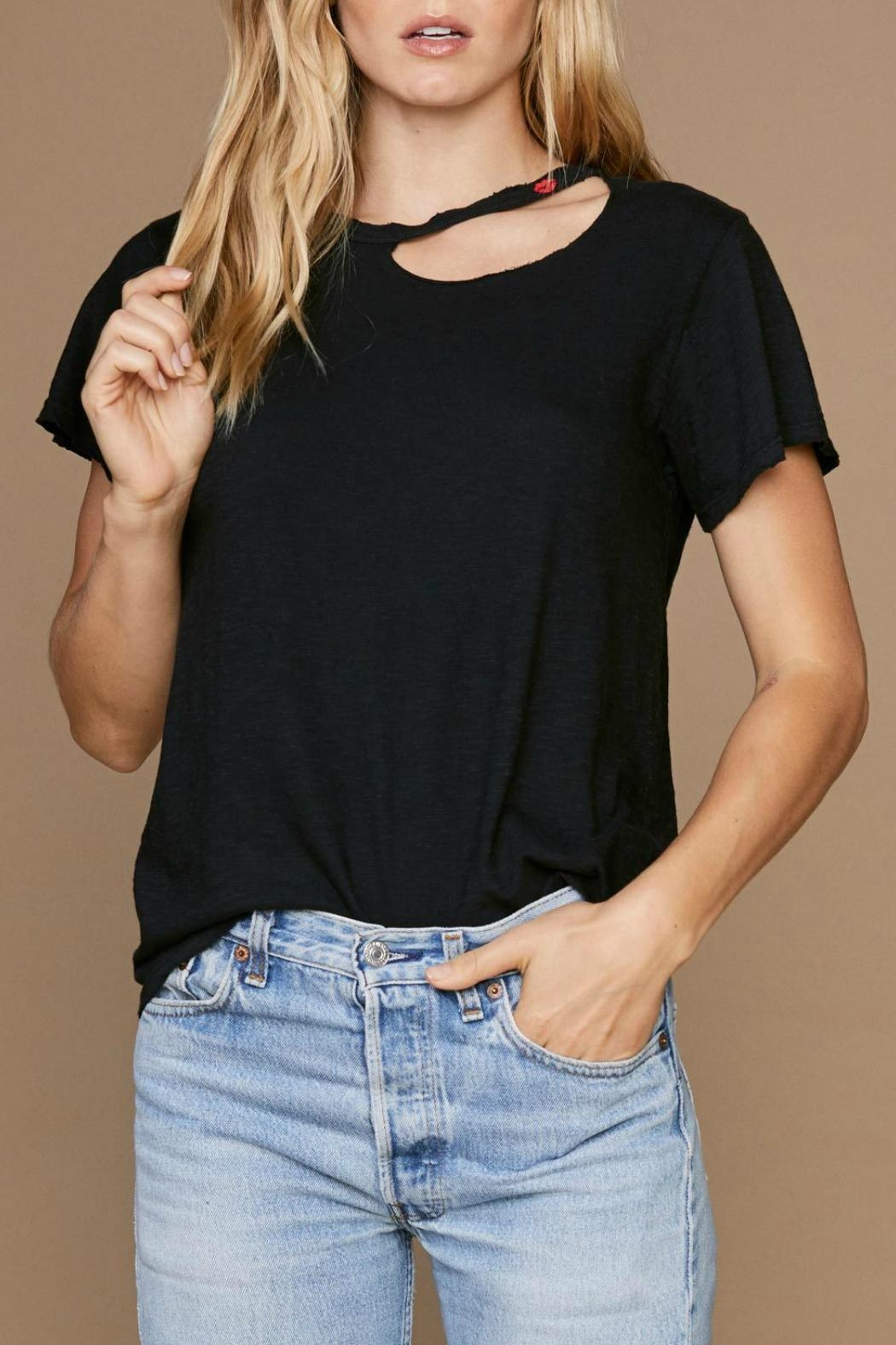 LNA Kissed Tee - Back Cropped Image