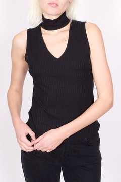 LNA Ribbed Turtleneck Tank - Product List Image