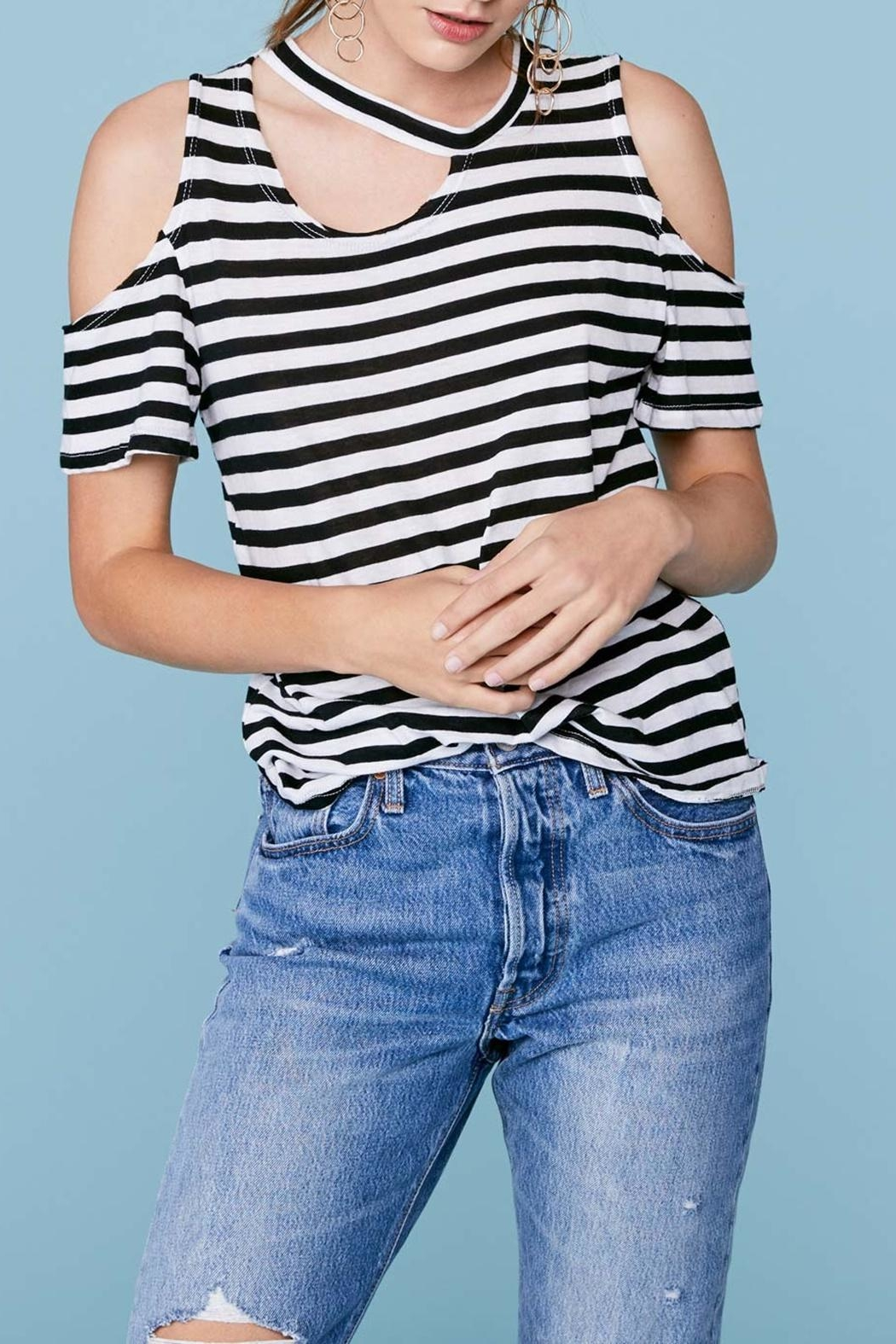 LNA Stripe Avalanche Tee - Front Cropped Image
