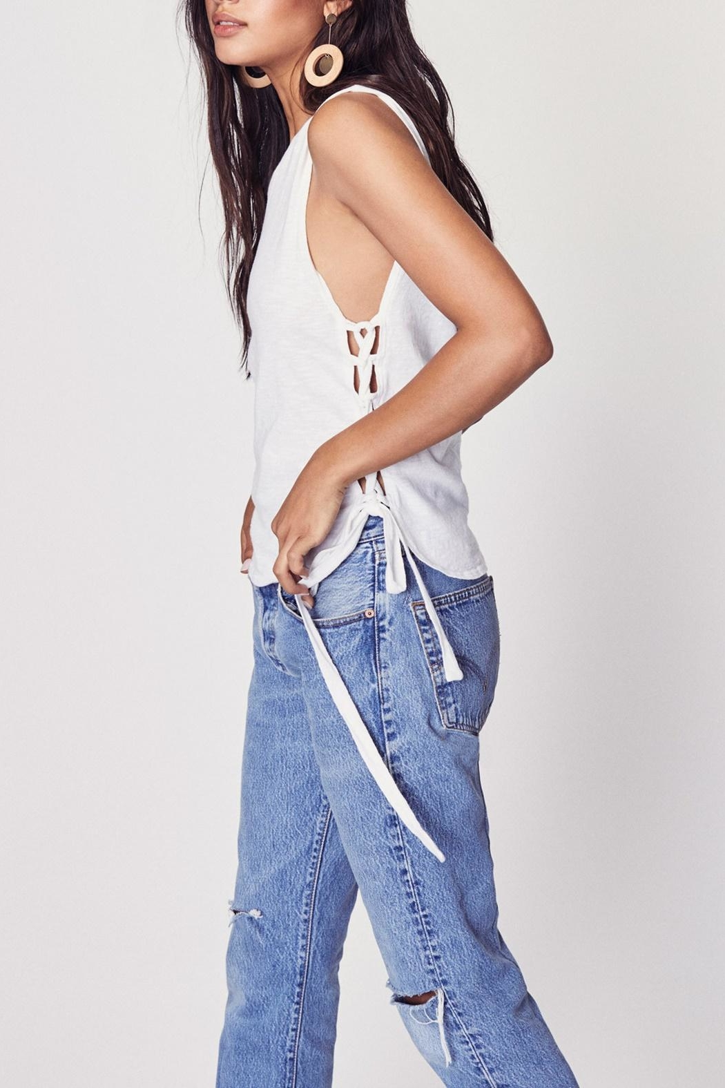 LNA Tied Up Tank - Side Cropped Image