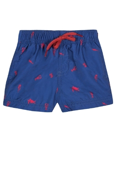 Tartine et Chocolat Lobster Embroidery Surfer-Shorts - Alternate List Image