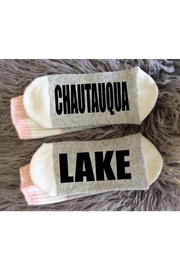 Local Artist  Chautauqua Lake Socks - Front cropped