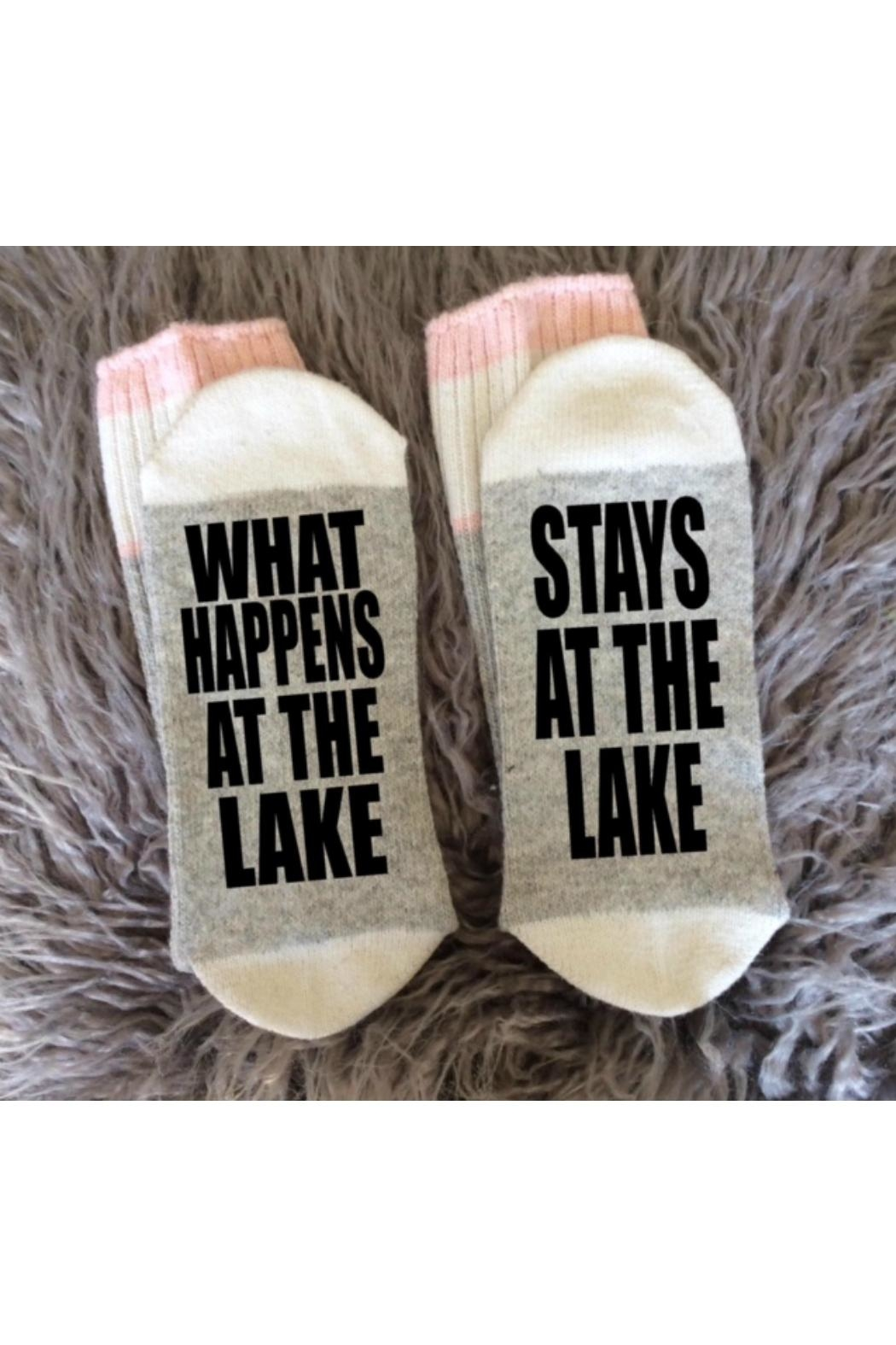 Local Artist  Stays-At-The-Lake Socks - Front Cropped Image