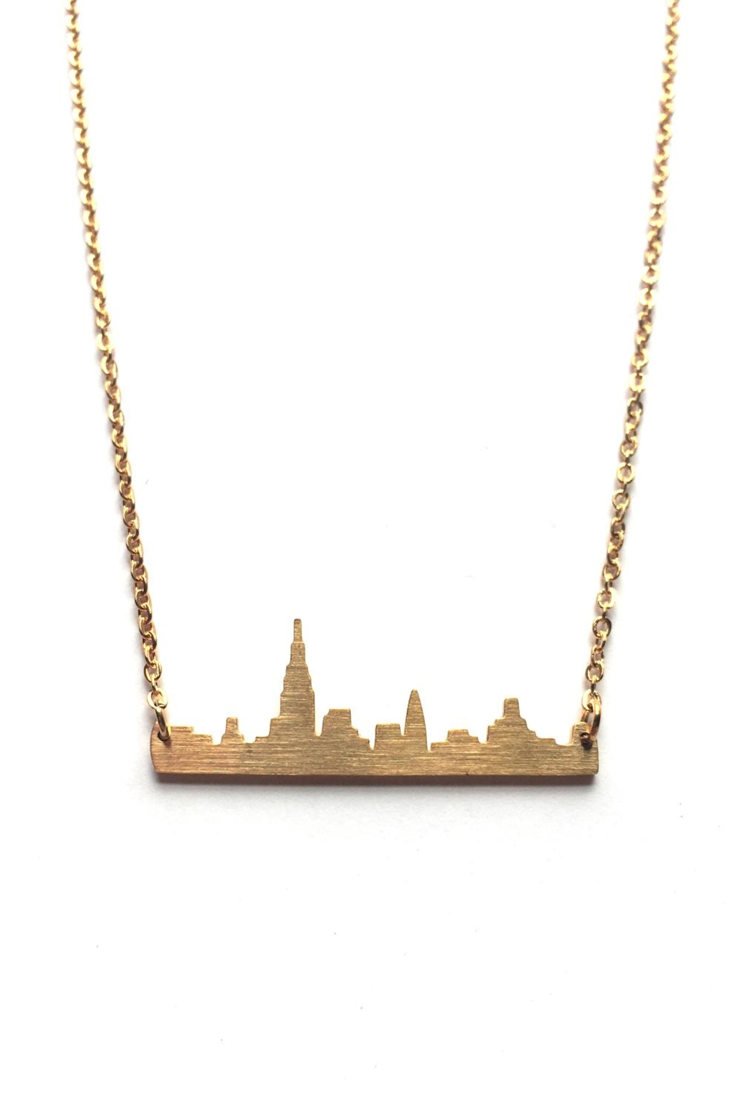 Local Color NYC Nyc Skyline Necklace - Front Full Image