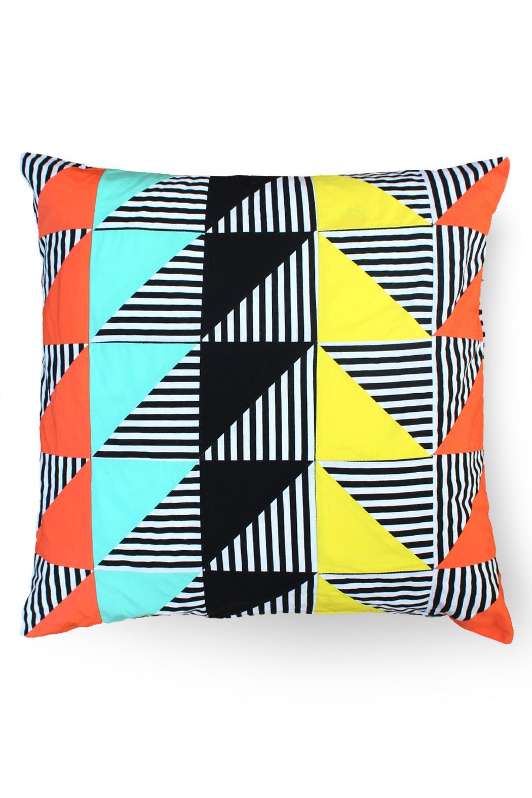 Local Color NYC Triangle Stripes Pillow - Main Image