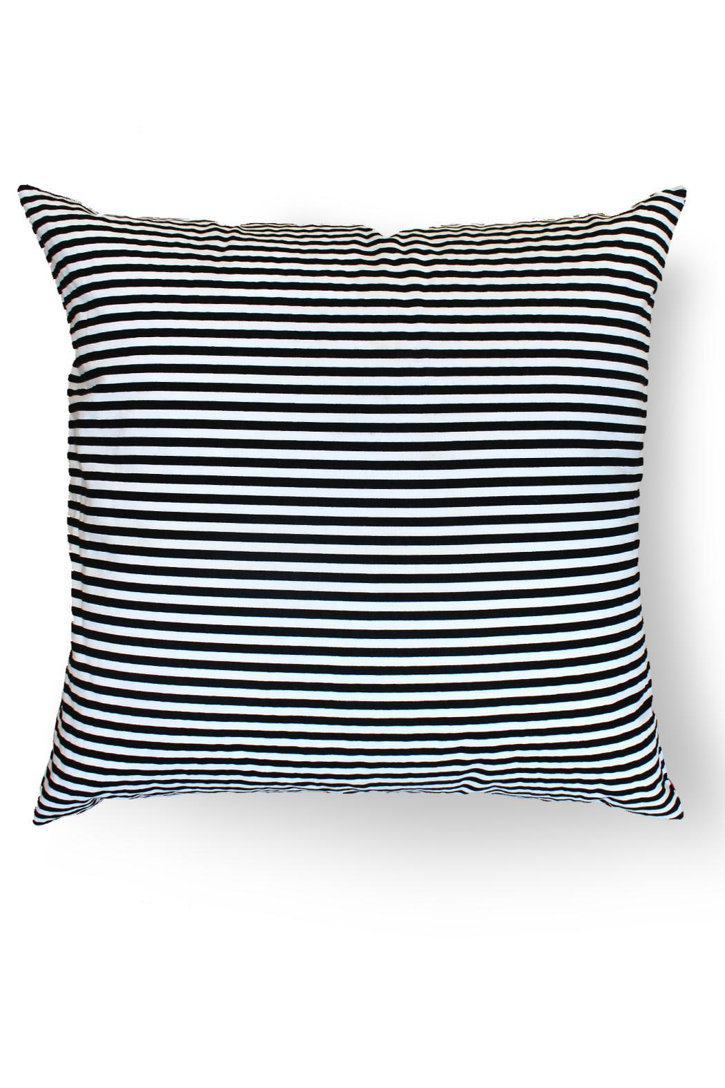 Local Color NYC Triangle Stripes Pillow - Front Full Image