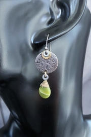 Despina  Locally Handcrafted Green Garnet Dangle Earring - Product Mini Image