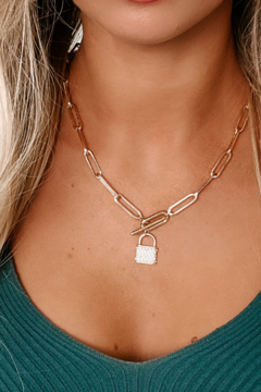 Shoptiques Product: Locked Chain Necklace