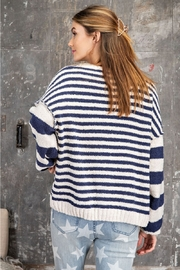 Easel  Locked Striped Sweater - Product Mini Image