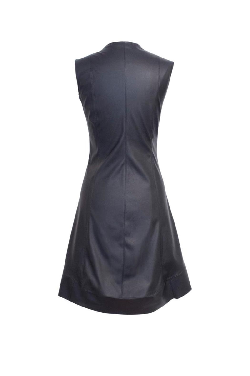 Lococina Faux Leather Dress - Front Full Image