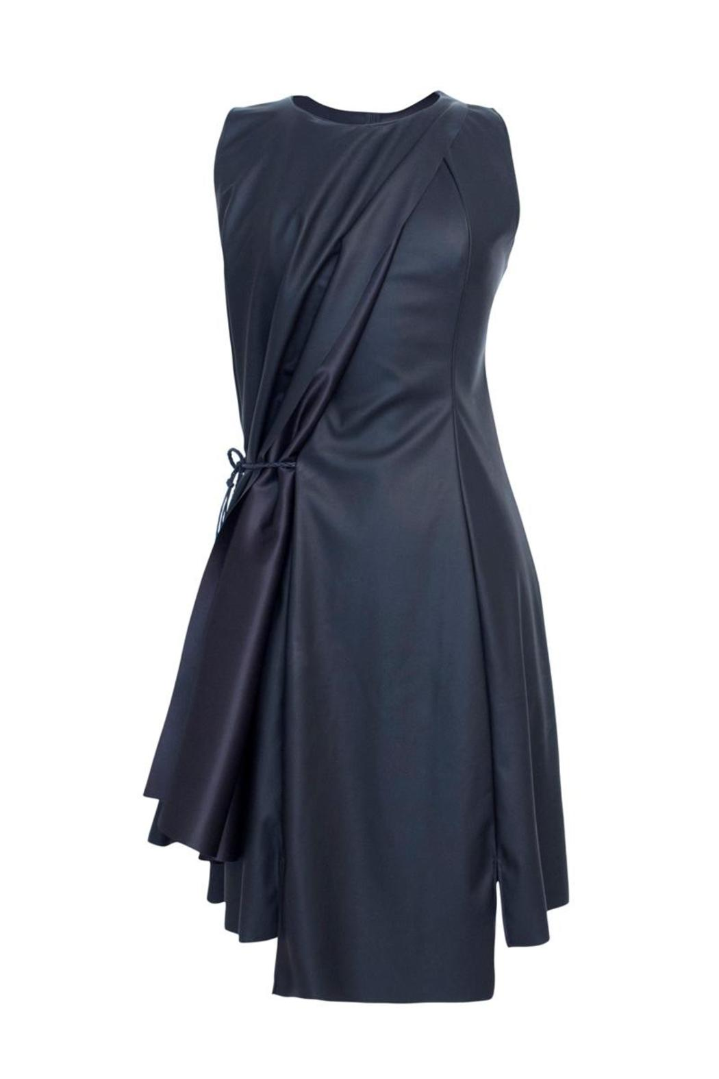 Lococina Faux Leather Dress - Side Cropped Image