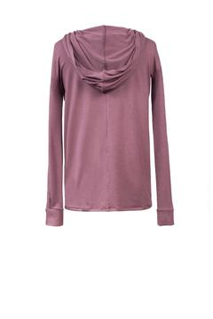 Shoptiques Product: Purple Hooded Top