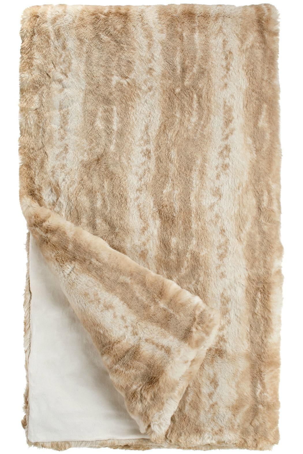 Fabulous Furs Blonde Faux Mink Throw - Front Full Image