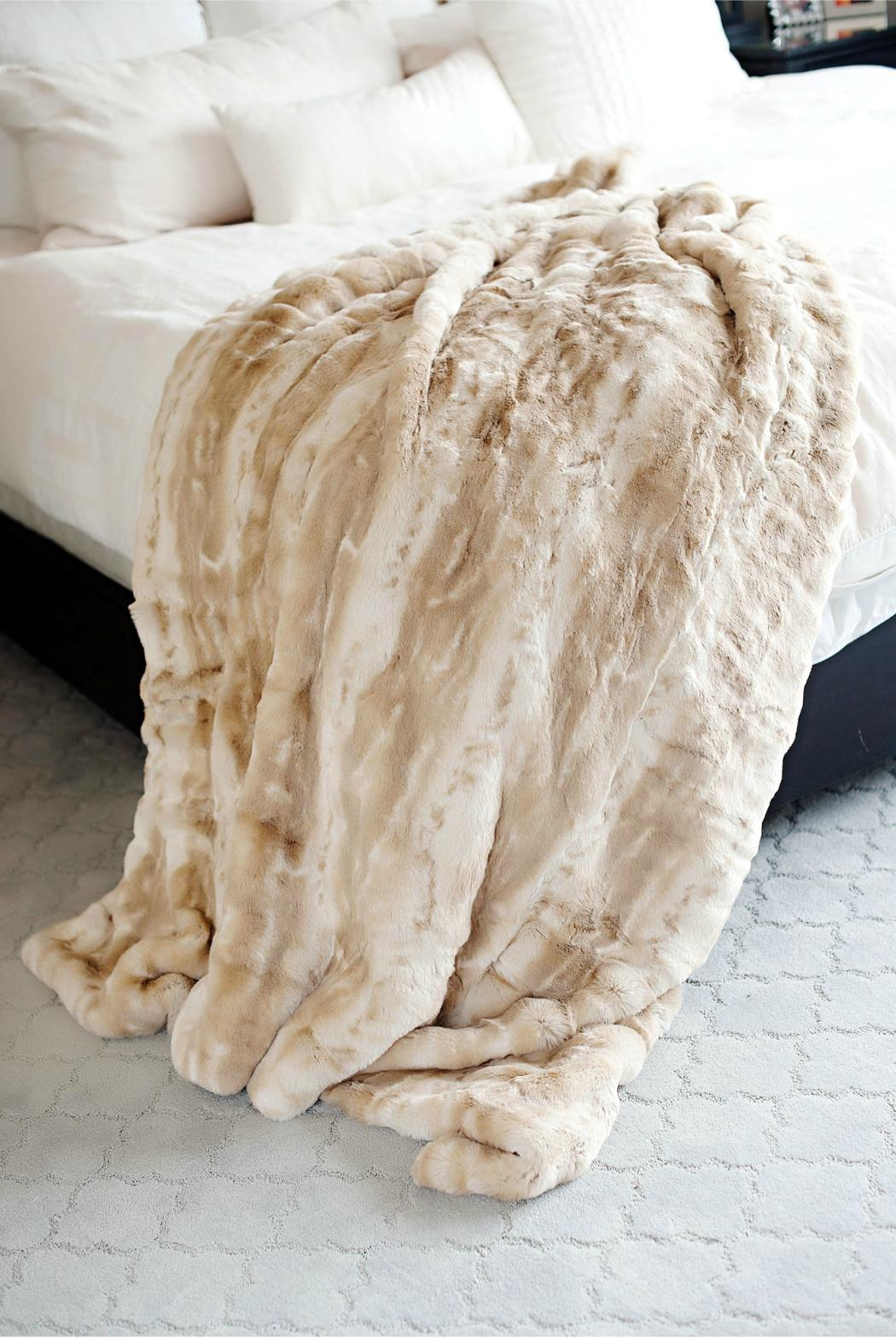 Fabulous Furs Blonde Faux Mink Throw - Front Cropped Image