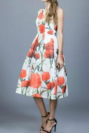Locust Whimsy Flower Organza Dress - Side cropped