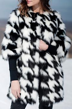 Locust Whimsy Faux Fox Houndstooth Coat - Alternate List Image