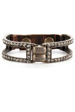 Locust Whimsy Leather & Crystal Bracelet - Alternate List Image