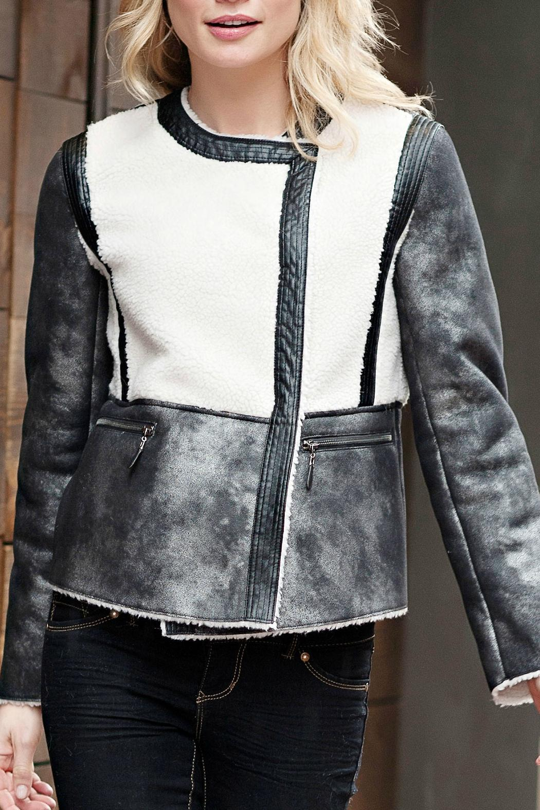 Donna Salyers Leather & Sherpa Jacket - Main Image