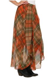 Locust Whimsy Plaid Maxi Skirt - Side cropped