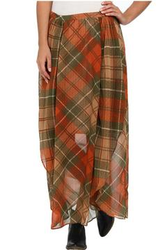 Locust Whimsy Plaid Maxi Skirt - Product List Image
