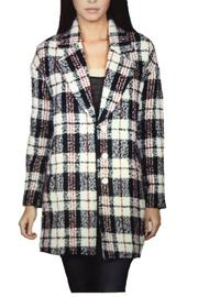 Locust Whimsy Plaid Oversized Coat - Product Mini Image