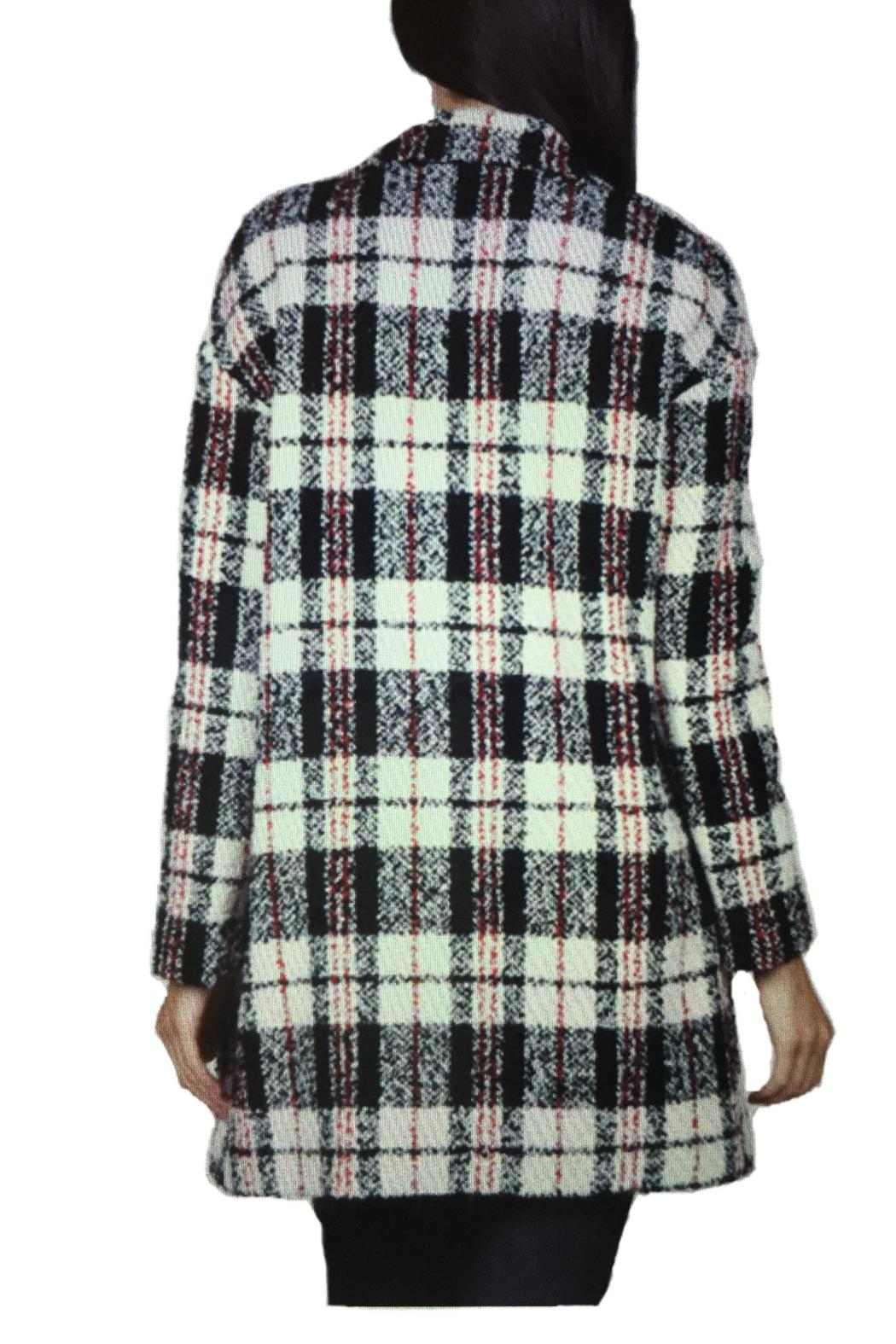Locust Whimsy Plaid Oversized Coat - Side Cropped Image