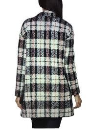 Locust Whimsy Plaid Oversized Coat - Side cropped