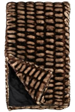 Shoptiques Product: Shadow Faux Mink Throw
