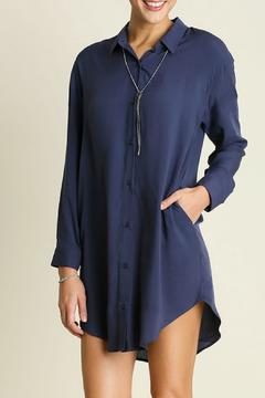 Locust Whimsy Silky Shirt Dress - Product List Image