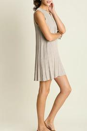 Umgee USA Sleeveless Keyhole Dress - Side cropped