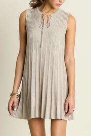 Umgee USA Sleeveless Keyhole Dress - Front cropped