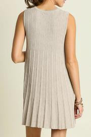 Umgee USA Sleeveless Keyhole Dress - Front full body