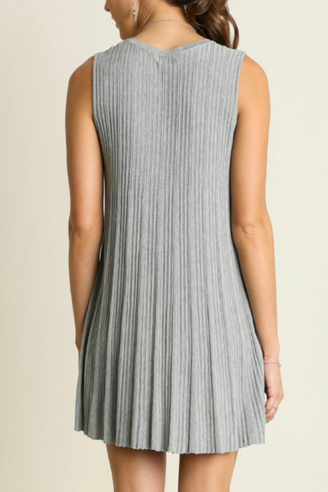 Umgee USA Sleeveless Keyhole Dress - Side Cropped Image