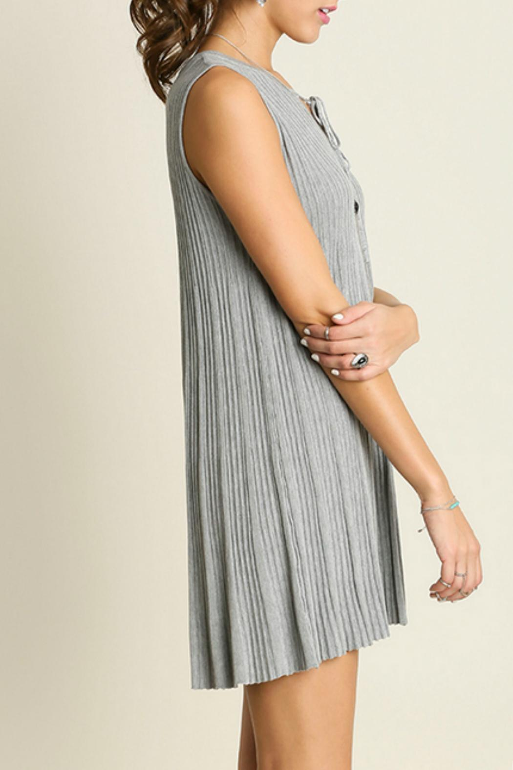 Umgee USA Sleeveless Keyhole Dress - Front Full Image
