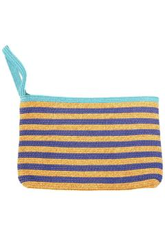 Locust Whimsy Stripped Straw Clutch - Product List Image