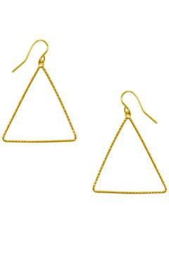 Shoptiques Product: Triangle Drop Earrings