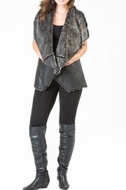 Locust Whimsy Vegan Black Vest - Front cropped