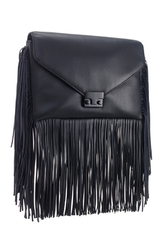 Loeffler Randall Black Fringe Lock Clutch - Product List Image