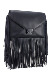 Loeffler Randall Black Fringe Lock Clutch - Product Mini Image