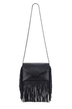 Loeffler Randall Black Fringe Lock Clutch - Alternate List Image